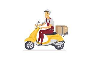 Delivery man - illustration