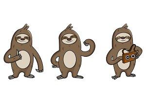 Illustration Of Cartoon Sloth