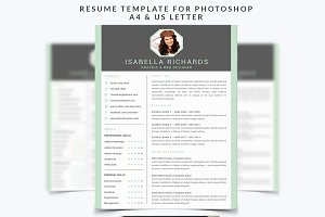 Resume Template 003 for Photoshop