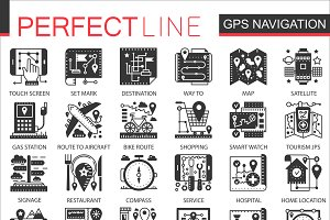 GPS location black concept icons