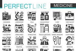 Medical healthcare concept icons