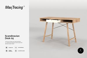 Scandinavian Desk 05