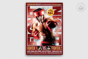 Fight Night Flyer Template V3