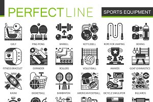 Sport fitness equipment concept icon