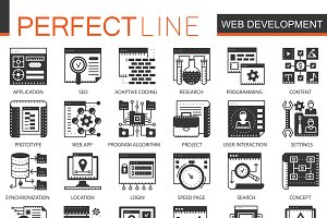 Web development black concept icons