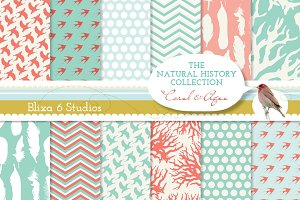 "Natural History Coral 12"" Pages"