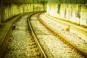 railroad railway track vintage retro