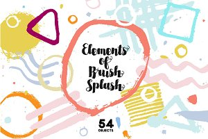 Elements of brush splash