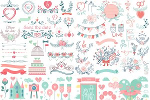 Wedding vintage graphic collection
