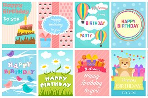 Cute Birthday card set.