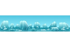 Wide header of arctic landscape