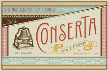 Conserta - Vintage Display Font by  in Serif Fonts