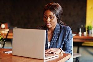 African american businesswoman sitti