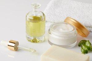 closeup shot of cosmetic oil, droppe