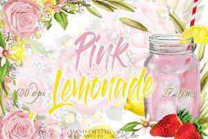 Pink Lemonade Clip Art