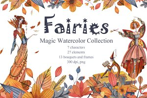Fairies. Magic Watercolor Collection