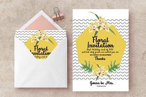 Floral Wedding Cards Invites