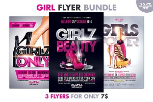 GIRL WOMAN Flyer Bundle