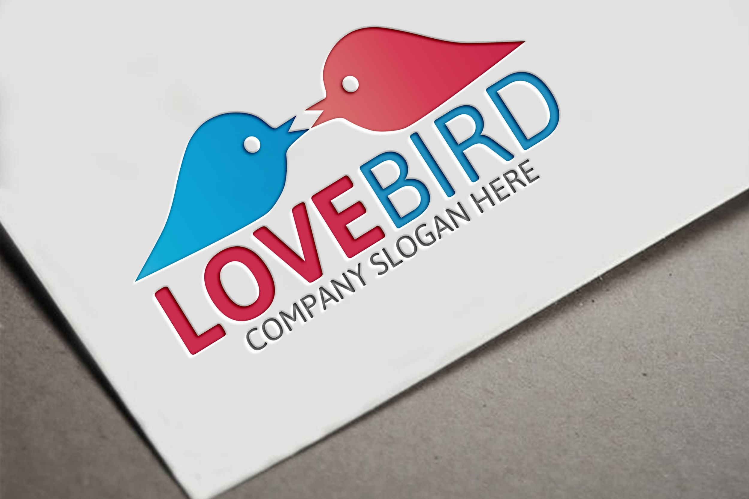 love bird logo creative illustrator templates creative market love bird logo