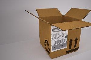 Cardboard Box [Rigged]