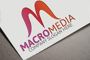 Macro Media/M Letter Logo