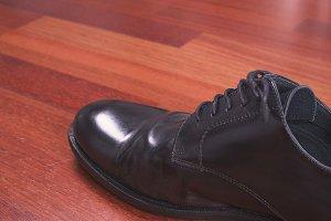 Shoe on wood