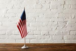 united states of america flagpole on