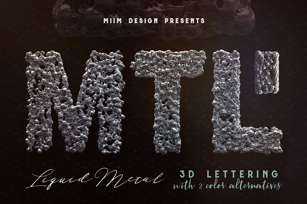 Graphics: MIIM - Liquid Metal – 3D Lettering
