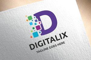Letter D - Digitalix Logo