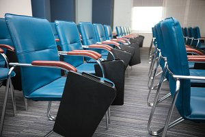 Conference Meeting Room. Rows of