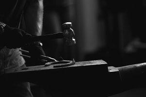 Blacksmith at work details