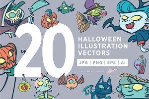 Halloween Illustration Vectors