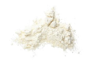 Pile of flour isolated on white