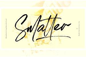 SALE! Smatter Font + Extras & 50%Off