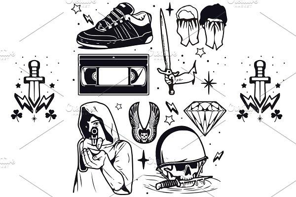 Punk Rock Tattoo and Stickers V. 2