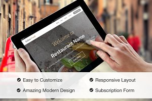 Responsive Restaurant Site Template