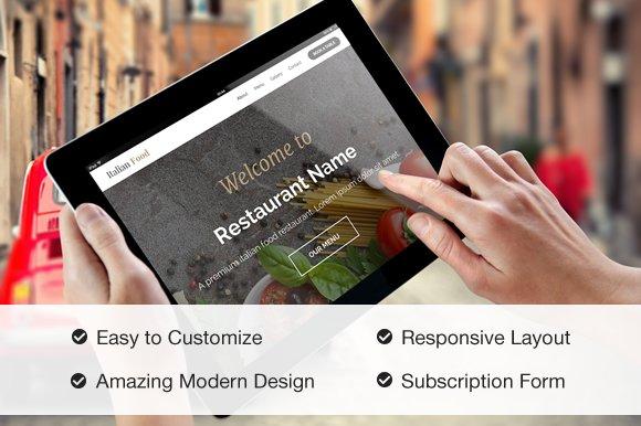 Responsive Restaurant Site Template