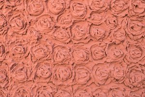 Wall stucco, rose shape pattern