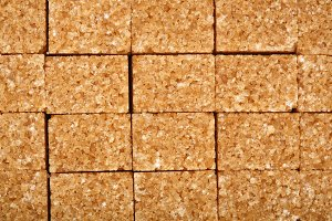 brown sugar cubes as a background