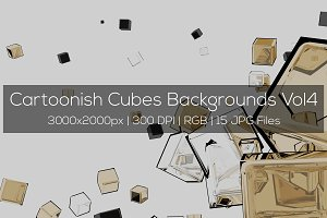 Cartoonish Cubes Backgrounds Vol4