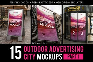 Outdoor Advertising City Mock-Up V1
