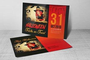 Halloween Postcard Psd Templates