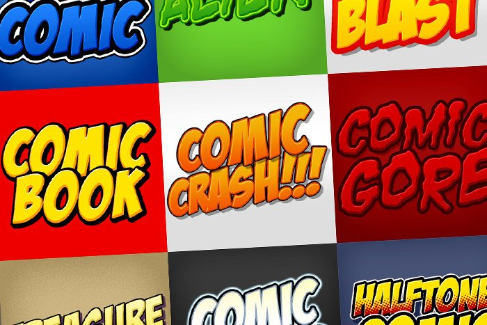 Comic Book Photoshop Styles Pack Layer Creative Market