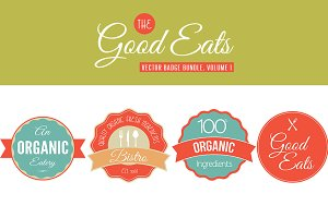 Good Eats Vector Badges Vol. 1