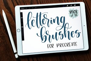 10 Lettering Brushes for Procreate