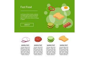Vector isometric burger illustration