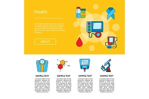 Vector colored diabetes icons web
