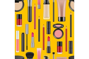 Vector realistic makeup pattern or