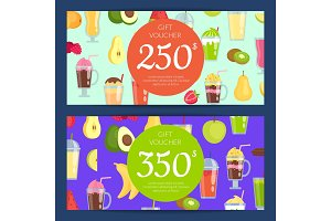 Vector flat smoothie discount or