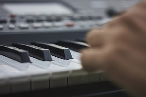Detail of a music keyboard